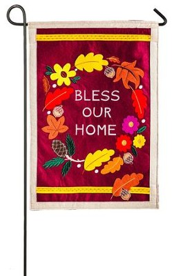 Bless Our Home Flag, Small  -