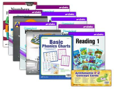 Abeka Grade 1 Homeschool Parent Full-Grade Kit (New Edition)  -