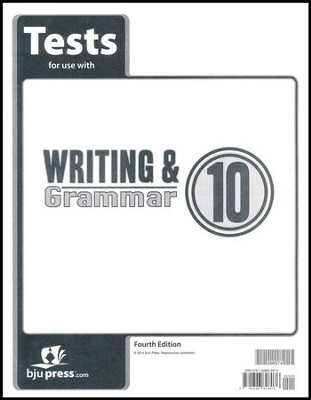 Writing & Grammar Grade 10 Tests (4th Edition)   -