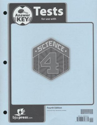 Science 4 Tests Answer Key (4th Edition)   -