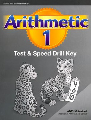 Abeka Arithmetic 1 Tests & Speed Drills Key (New Edition)   -