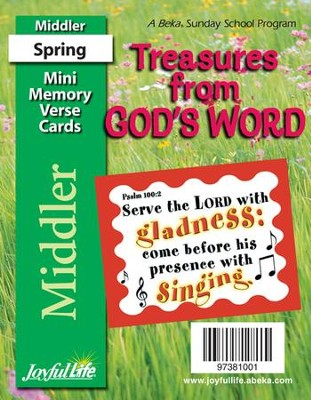 Treasures from God's Word Middler (Grades 3-4) Mini  Memory Verse Cards  -