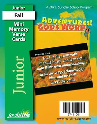 Adventures in God's Word Junior (Grades 5-6) Mini Memory Verse Cards  -