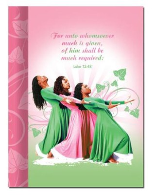 Three Ladies Journal, Pink and Green  -