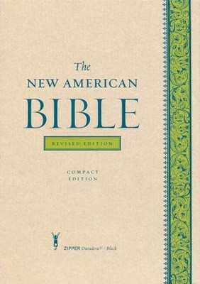 The New American Bible, Compact, Black Duradera with Zipper, Revised Edition  -