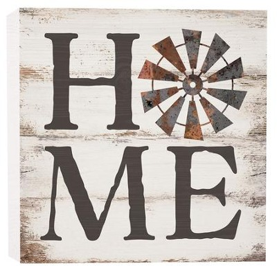 Home, Block Sign, Small  -