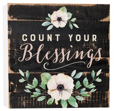 Count Your Blessings, Block Sign, Small  -