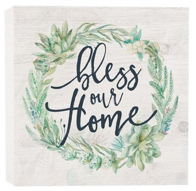 Bless Our Home, Block Sign, Small  -
