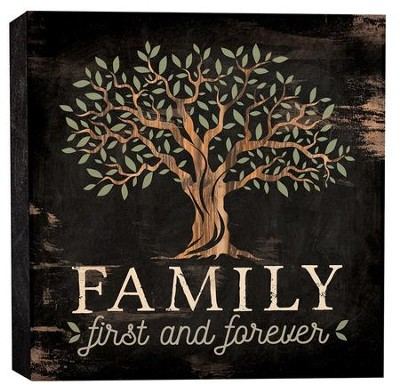 Family First and Forever, Block Sign, Small  -