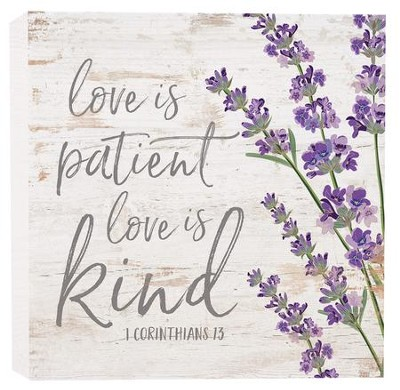 Love Is Patient, Love Is Kind, Block Sign, Small  -