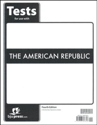 BJU Heritage Studies: The American Republic Grade 8 Test  Packet (Fourth Edition)  -
