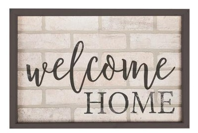 Welcome Home, Framed Faux Brick Sign, Large  -