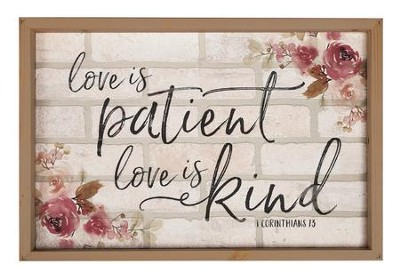 Love Is Patient, Love Is Kind, Framed Faux Brick Sign, Large  -