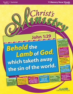 Christ's Ministry Youth 1 (Grades 7-9) Memory Verse Visuals  -