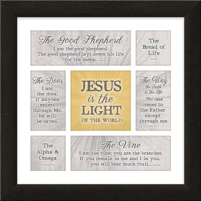 Jesus Is the Light of the World Framed Art  -