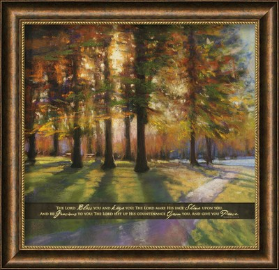 The Lord Bless You and Keep You, Framed Art  -     By: Amanda Houston
