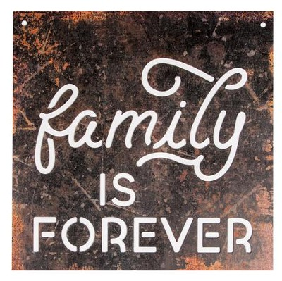 Family Is Forever, Silhouette Sign, Large  -