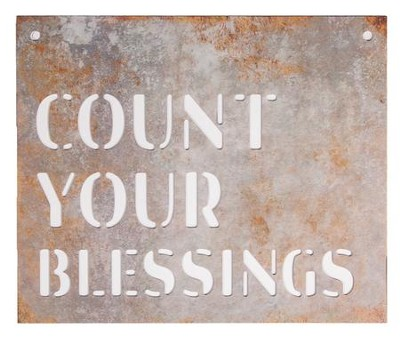 Count Your Blessings, Silhouette Sign, Large  -