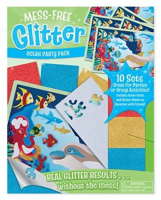 Mess-Free Glitter, Ocean Party Pack  -