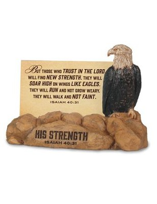 His Strength, Eagle Scripture Card Holder, with 30 Cards, Isaiah 40:31  -