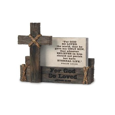 For God So Loved the World, Scripture Card Holder  -