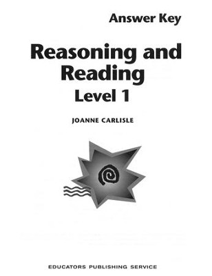 Reasoning and Reading 1 - Teacher's Guide  Grades 5-6  -     By: Joanne Carlisle