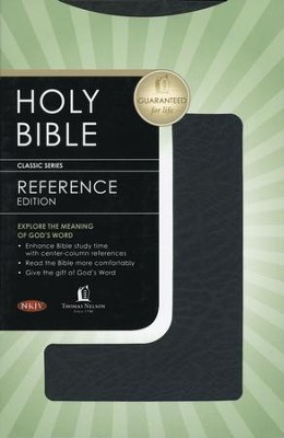 NKJV UltraSlim Reference Bible Bonded leather, black  -