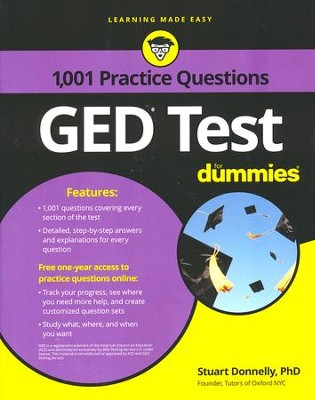 1,001 GED Practice Questions For Dummies  -