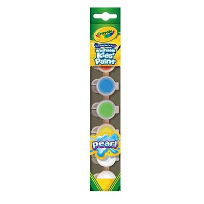 Crayola, Washable Kids Paint Pearl with Special Effects, 6 Pieces Effects, 6 Pieces  -