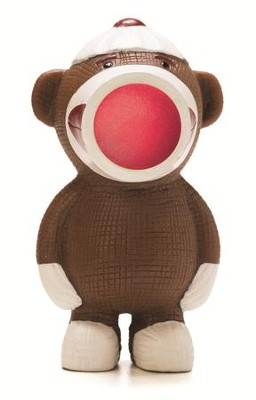 Sock Monkey Popper Keyring   -