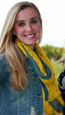 Scarf Yellow & Navy Anchor  -