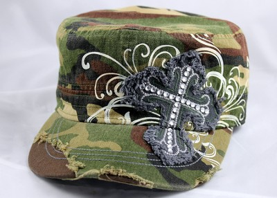 Designer Hat, Camo Cross  -