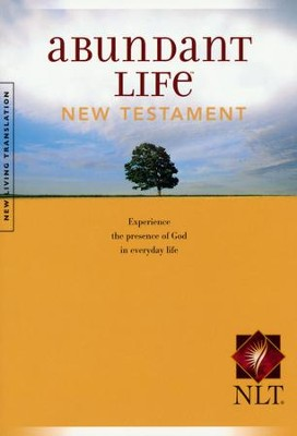 NLT Abundant Life Bible New Testament, softcover   -