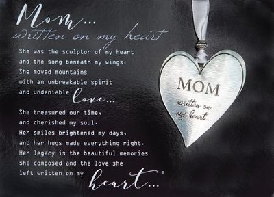 Mom Heart Ornament and Framed Poem  -