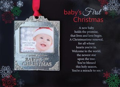 Baby's First Christmas Ornament  -
