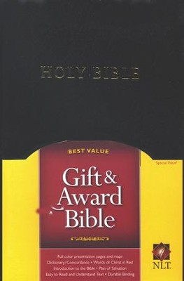 NLT Gift and Award Bible, Imitation Leather, Black   -