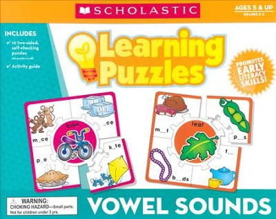 Vowel Sounds Learning Puzzles  -