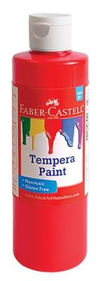 Tempera Paint, Red  -