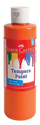 Tempera Paint, Orange  -