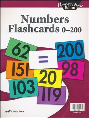 Abeka Homeschool Numbers Flashcards 0-200   -