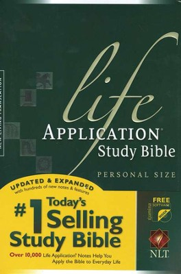 NLT Life Application Study Bible, Personal Size Hardcover - Slightly Imperfect  -