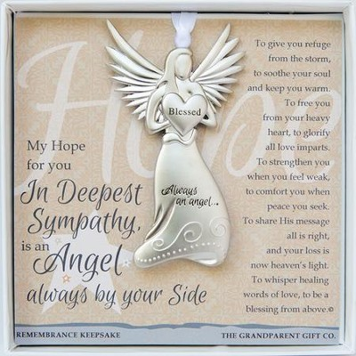 Sympathy, Always An Angel Ornament  -