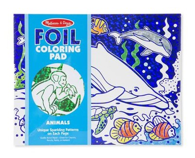 Animals, Foil Coloring Pad  -