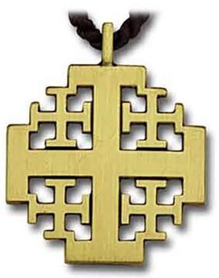 Bronze jerusalem cross pendant christianbook bronze jerusalem cross pendant mozeypictures Images