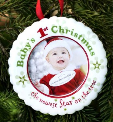 Baby's 1st Christmas Photo Ornament  -