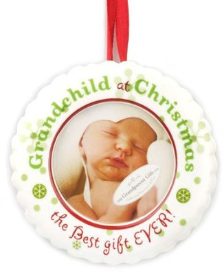 Grandchild's Christmas Photo Ornament  -