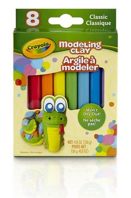 Modeling Clay, Classic Color Assortment, 8 Piece  -