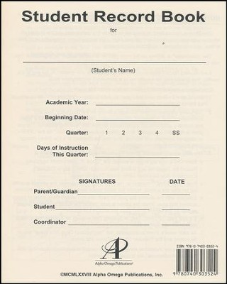 Student Record Book   -