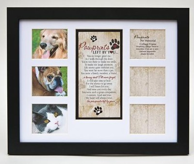 Pawprints Memorial Pet Collage, Photo Frame  -