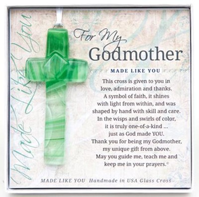 For My Godmother Cross Ornament  -